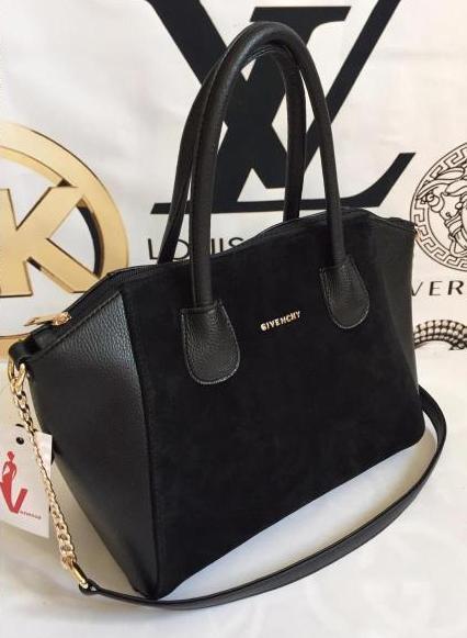 2ed24f685d4a Женская замшевая сумка Givenchy, чёрная Живанши - Интернет-магазин