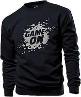 Свитшот мужской черный GAME ON