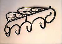 Кованая вешалка для одежды настенная-1