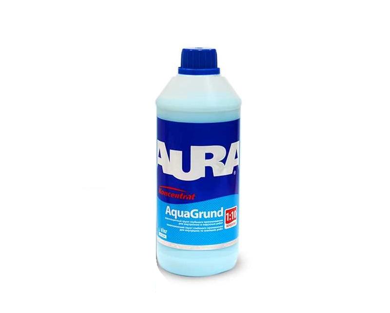 Грунтовка-концентрат AURA KONSENTRAT AQUAGRUND влагоизоляционная 0,5л