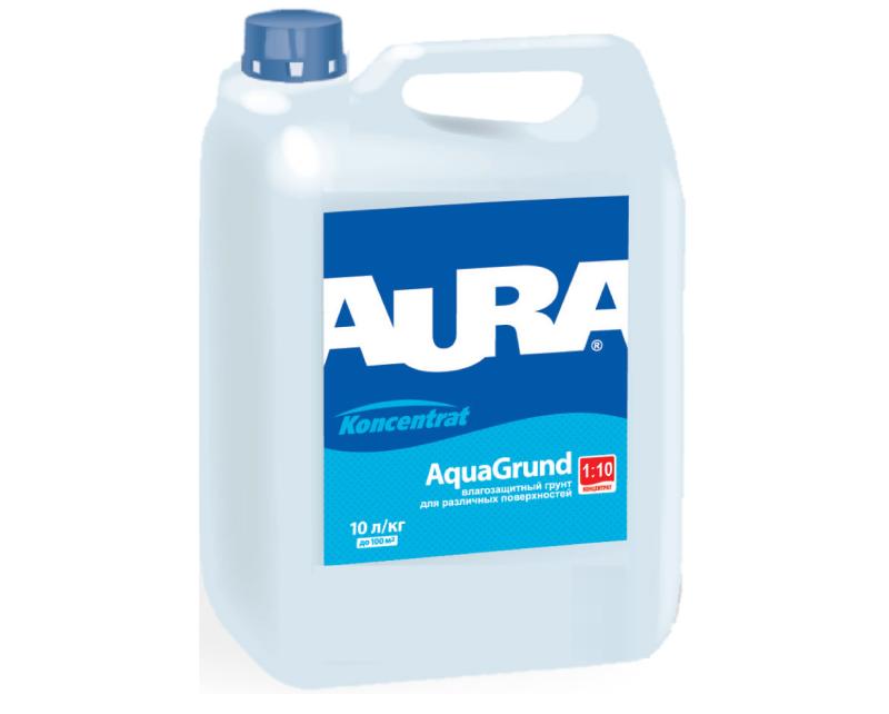 Грунтовка-концентрат AURA KONSENTRAT AQUAGRUND влагоизоляционная 10л
