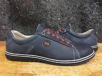 Мужские туфли из натуральной кожи Gest 7/6 BLKR