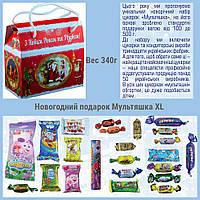 Сладкий новогодний подарок из конфет Саквояж большой, вес 490 гр