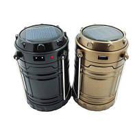 Многофункциональный кемпинговый фонарь G-85 с солнечной зарядкой для телефона. Отличное качество. Код: КГ2624