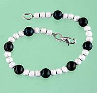 Срібний браслет з перлами