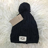 Шапка Ugg Winter Hat Knitted Pompon 18192 черная