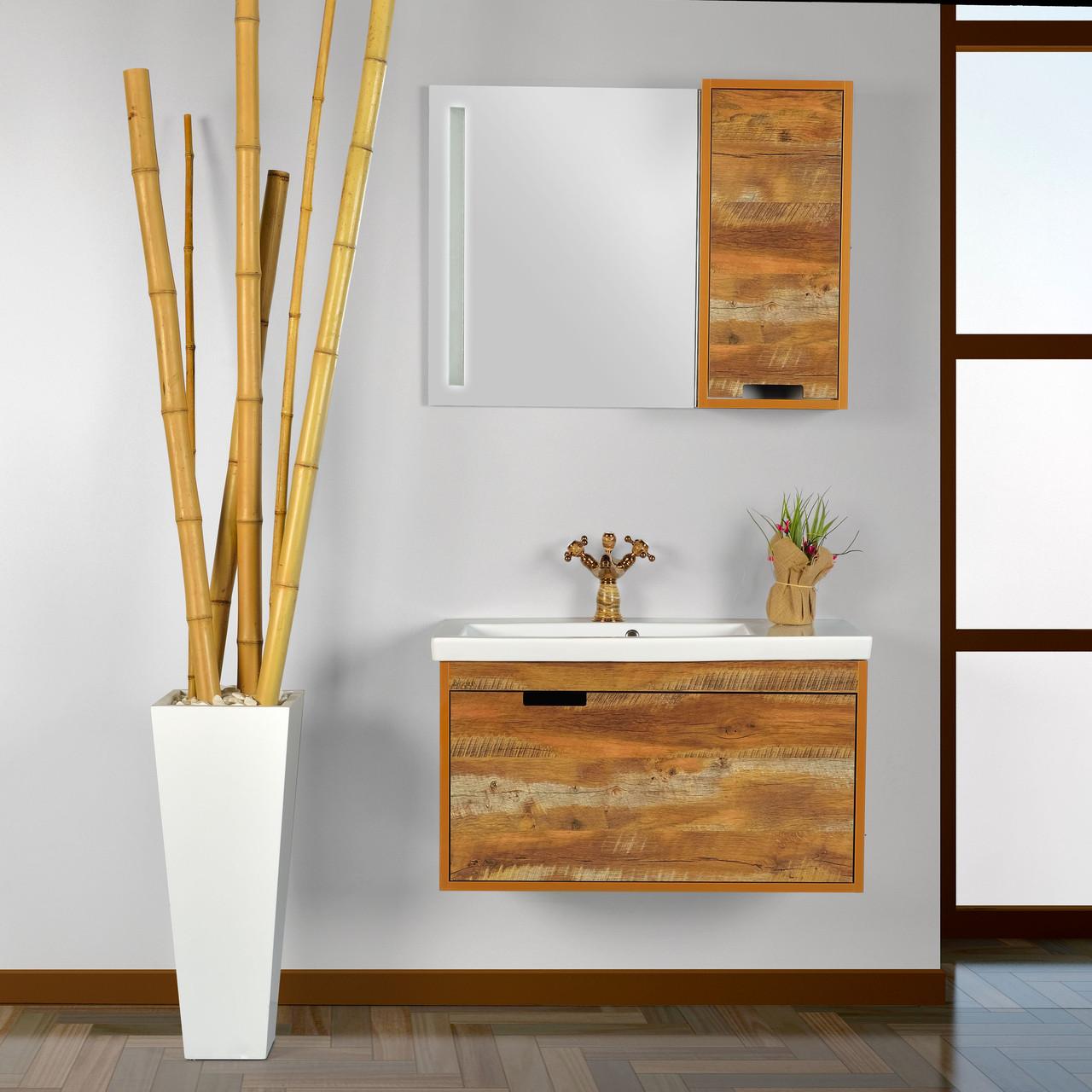 "Зеркало со шкафчиком GOLD Ban-Yom ""Legno 85"", 850х640х170 мм"