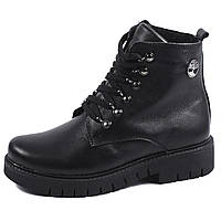 Женские ботинки Timberland зима 2017 чёрные black (36-39)