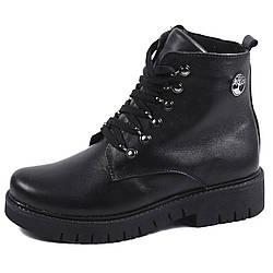 Женские ботинки зима 2017 чёрные black (36-39)