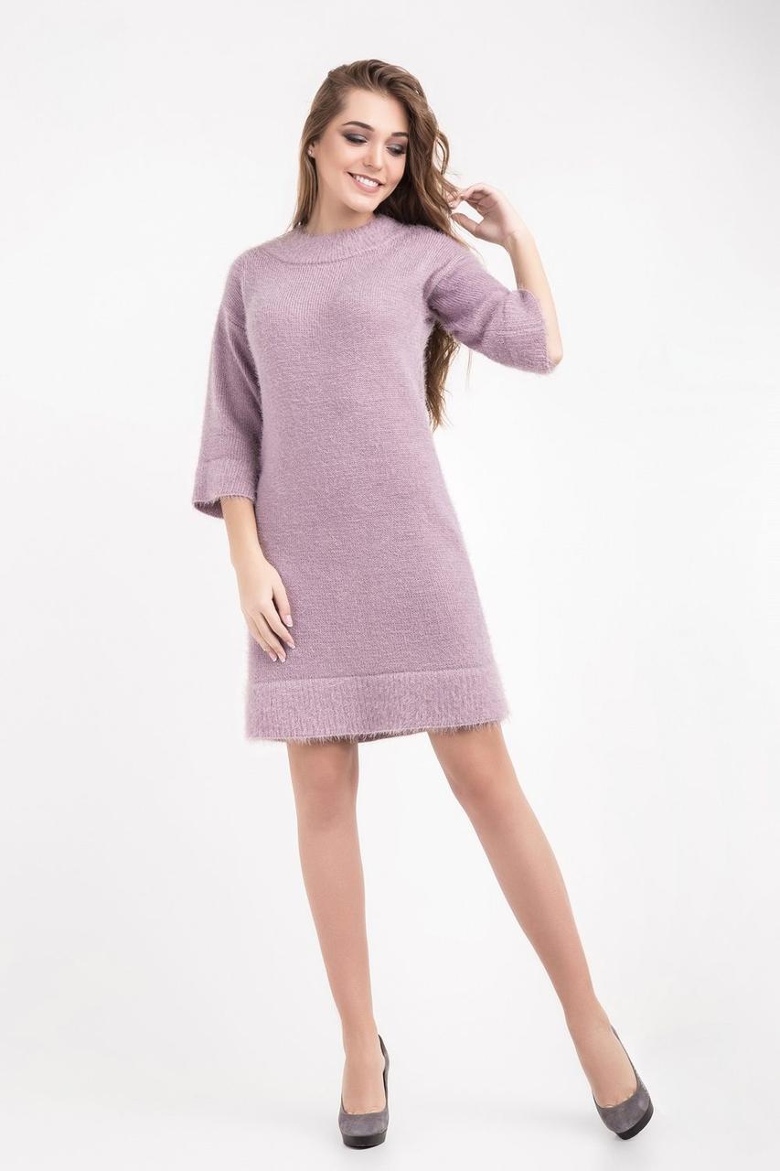 Вязанное платье пудрового цвета - Оптово - розничный магазин одежды