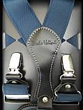 Мужские подтяжки светло-синего цвета для брюк, фото 2