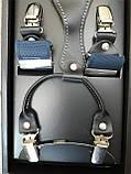 Мужские подтяжки светло-синего цвета для брюк, фото 3