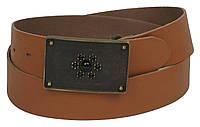 Женский винтажный кожаный ремень с закрытой пряжкой, Vanzetti, Германия, 100022 коричневый, 4х114 см