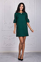 Женское нарядное платье трапеция зеленого цвета
