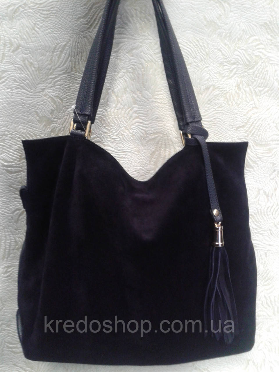 08cdd0f37e9d Женская сумка замшевая синяя стильная - Интернет-магазин сумок и аксессуаров