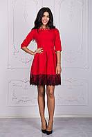 Оригинальное женское платье с ажуром высокого качества
