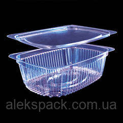 Пластиковая упаковка для салатов с крышкой 2200 /(220мл)