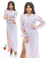 Нарядное платье в пол с люрексом. Разные цвета.