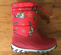 Сапожки детские зимние для девочек снеговик Литма