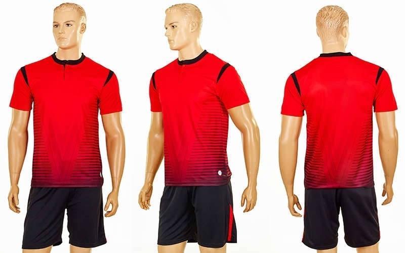 Футбольна форма Brill CO-16004-R (PL, р-р S-2XL, червоний, шорти чорні)