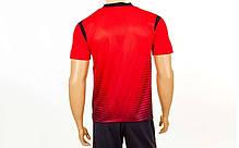 Футбольна форма Brill CO-16004-R (PL, р-р S-2XL, червоний, шорти чорні), фото 3