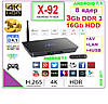 X92  Android TV BOX 8 ядер  3gb DDR3 16gb +ANDROID 7 +НАСТРОЙКИ I-SMART