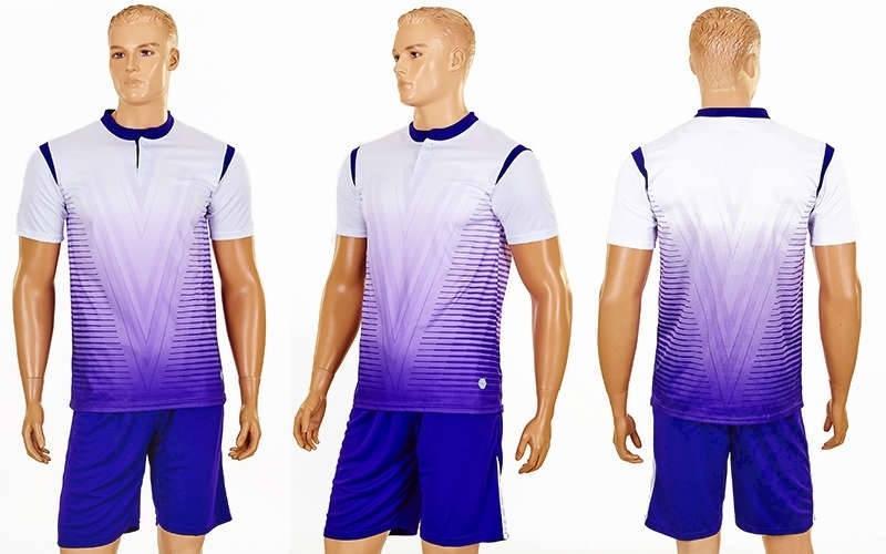 Футбольна форма Brill CO-16004-W (PL, р-р S-2XL, білий, шорти фіолетові)
