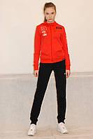cd47066e Женский спортивный костюм Reebok 8521-1 красно-черный код 111А