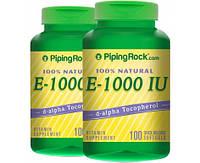 Витамины Piping Rock 100% natural Vitamin E-1000 IU  (100 softgels)