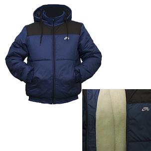 Куртка тепла чоловіча на синтепоні і овчині Nike, фото 2