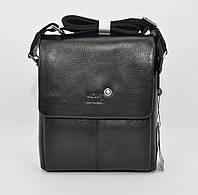 Мужская кожаная сумка Montblanc 9068-1 черная малая