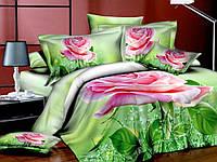 Комплект постельного белья Нежность, сатин панно 3Д (фотопринт)