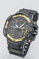 Мужские спортивные наручные часы Casio G-Shock черные+золотые