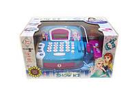 Игрушечный кассовый аппарат Frozen свет, звук, сканер, калькулятор, продукты, 66031BX