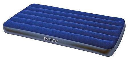 Надувной матрас Intex 68757 (99х191х22 см.) / Односпальный / Синий, фото 3
