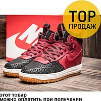 Мужские кроссовки Nike Air Force LF1, кожаные, красные / кроссовки мужские Найк Аир Форс ЛФ1, модные