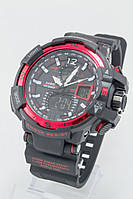 Мужские спортивные наручные часы Casio G-Shock черные+красные