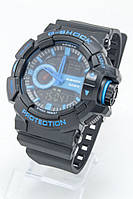 Мужские спортивные наручные часы Casio G-Shock черные+синие
