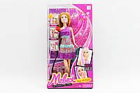 Кукла типа Барби 2 вида, 29см, дополнительные цветные пряди волос, аксессуары 358BC
