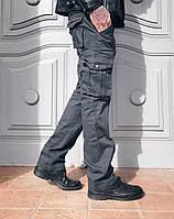 Джинсы Iteno 1672-7 карго серые мужские, фото 1