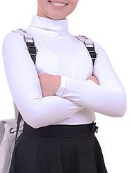 Белый гольф на девочку в школу