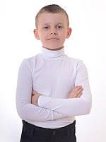Белый гольф на мальчика  в школу
