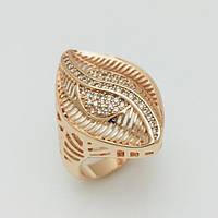 Перстень женский Fallon Листик, размер 17, 18 ювелирная бижутерия