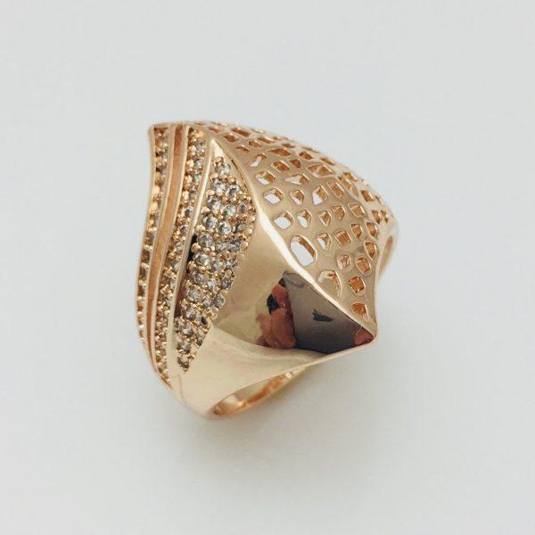 Перстень женский Fallon Ракушка, размер 17, 18  ювелирная бижутерия