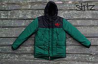 Зимняя куртка/парка/пуховик мужская адидас (Adidas), зеленая