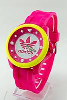 Женские спортивные наручные часы Adidas малиновые