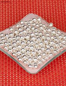 Срібні цукрові кульки 2 мм, 3 мм, 5 мм, 7 мм, упаковка 1 кг/ Сахарные шарики серебряные