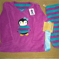 Пижама махровая Primark для девочки с пингвином