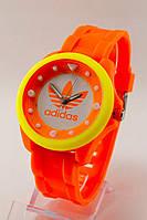 Женские спортивные наручные часы Adidas оранжевые