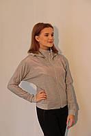Женская спортивная толстовка Adidas (27735-1) светло-серая код 778А